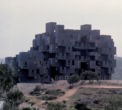Kafka Castle by Ricardo Bofill, 1968  You might could say it's Kafkaesque.