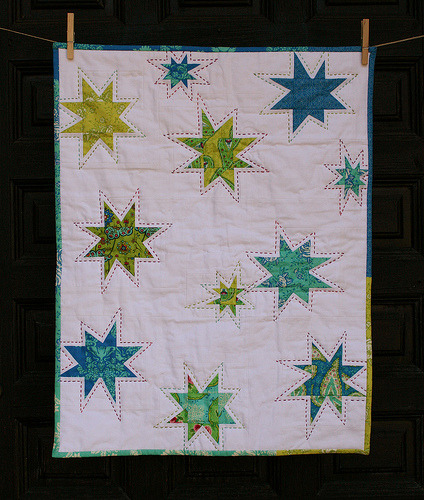 Wonky Stars by Jenny, an original design featured on her blog.