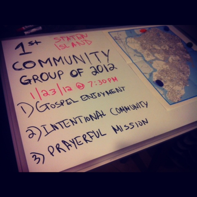 1st Staten Island Community Group of 2012 - *One Year Anniversary* - Next Monday, January 23rd, 2012 @ 7:30pm in South Beach.