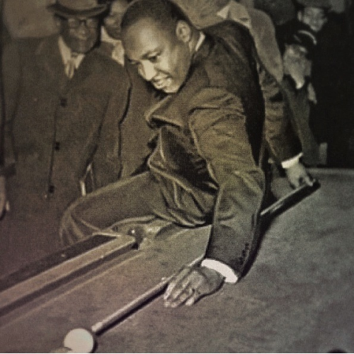 MLK DAY:  … Even our leaders and heroes need to take a break every now and then.., Dr Martin Luther King working on his backshot!  Photo Credit:  Permission to edit and post this photo from, EducatedHustle, on Instagram.