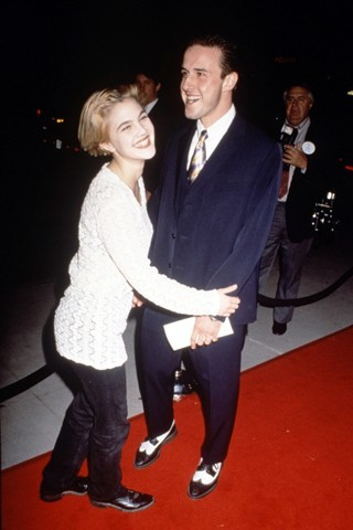 Drew Barrymore & David Arquette, 1991