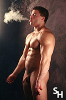 Tanek is our newest smokinghunk.  We just put up a new photo gallery of him and will feature his photoshoot video on Wednesday.  The following week we will be adding more video of this young muscular man.