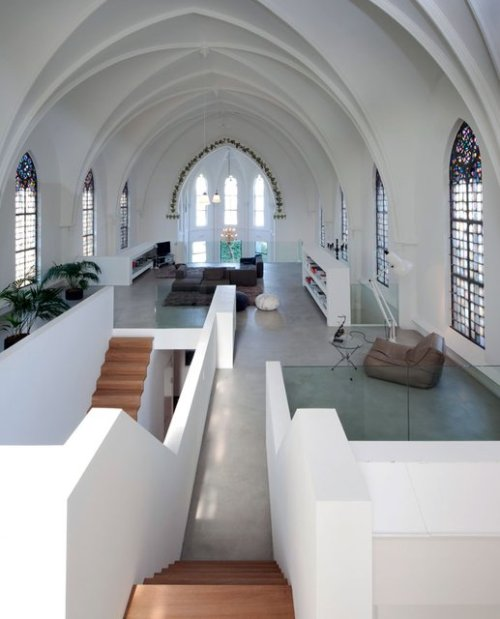 stayaurum:  Church converted into a home, Utrecht. Zecc Architects.