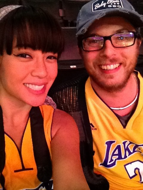 Great date night at the Laker game tonight! xo Rodene  http://rodene.wordpress.com/