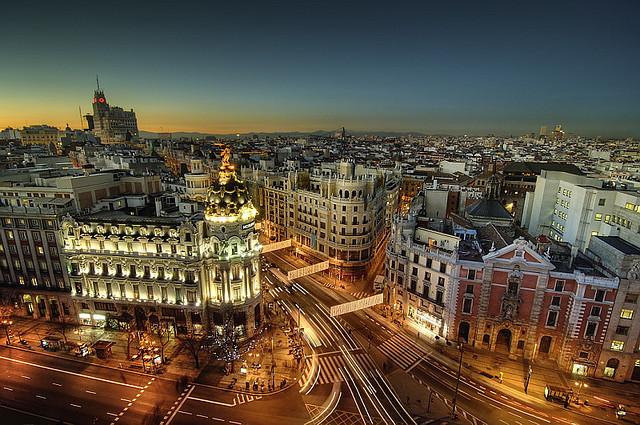 | ♕ |  Madrid at dusk  | by © Jose Cuellar