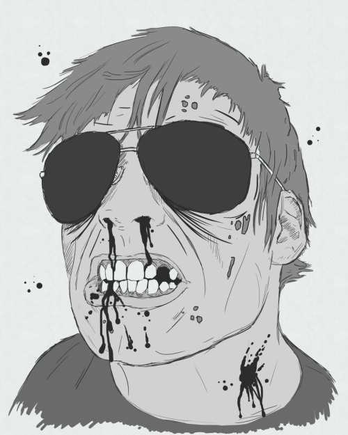 A Friend of mine Zombiefied.  Illustration by: Matthew Sebert