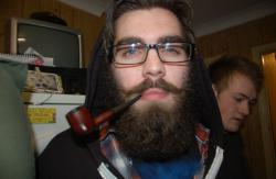 Me, my beard and my pipe at a house party.  Thanks for the submission, youwerecoveredincherrypie