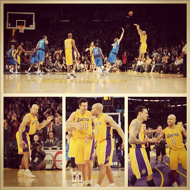 Derek Fisher's game winner by @egole86. Awesome sequence.  @Suga_Shane