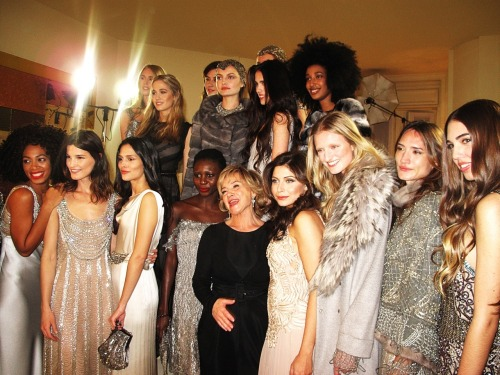 girlfridaygirlfriday:  All the beautiful girls who walked in Alberta Ferretti's pre fall show in Milan this week - including my faves Candice Lake, Tali Lennox and Amber Le Bon! Photograph from the multitalented Candice Lake