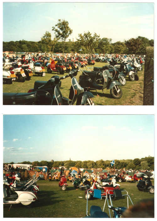 Scooters for miles, 1988 Scooter Rally, Margate.