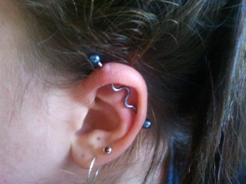 "Industrial piercing baby [; best decision I madee"" I loooovee it!"