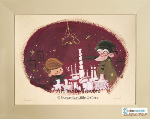 """Charlie's Chocolate Factory"" by Be Towers. Very soon available on sale in the upcoming opening exhibition ""Charlie and the Chocolate Facory"" at Susanita's Little Gallery. 20% of the sales from this exibition will go to the Roald Dahl's Marvellous Children's Charity."