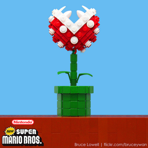 LEGO Piranha Plant  - by Bruce Lowell  (via:itlego)