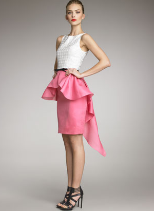 Jason Wu Two-Tone Cascade Dress….love the asymmetrical peplum!