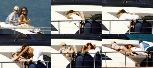 Lady Gaga and a Friend on a boat Lady GaGa Enjoys Lesbian Cruise.