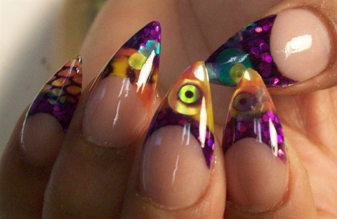 Stained glass stiletto nails like these hold a special place in my heart.