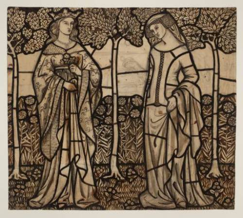 fletchingarrows:  Isolde and Guinevere, William Morris