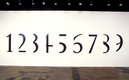 "visual-poetry:  ""all numbers are equal (cut from left)"" by micah lexier"