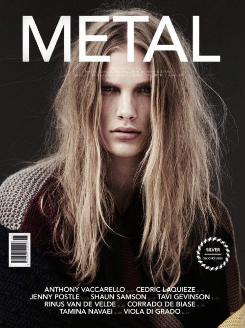 Ilse de Boer covers the Winter edition of Metal magazine lensed by Emma Tempest. Ilse looks very boyish!  Original Article