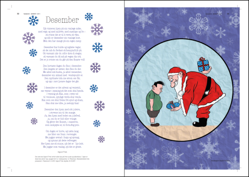 Title: Santa & Kid. Tools: Wacom Cintiq 21UX, Manga Studio, Photoshop.Notes: An illustration done for Vestavind's Advent 2011 issue.