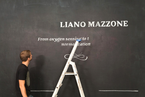 Handmade + typography + chalk = love via