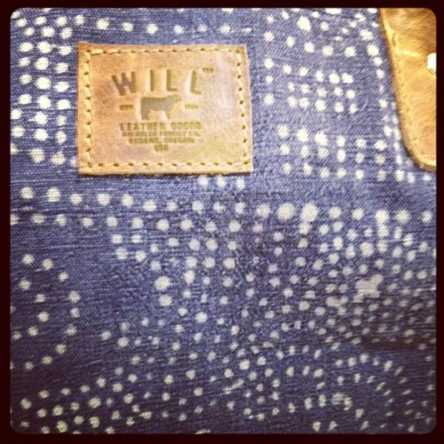 oncewheniwas:  You know what this is? Batik denim #willleathergoods #capsuleny  (Taken with instagram)