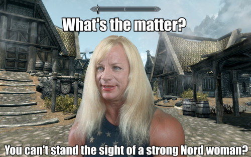 gaming lulz:  strong Nord woman  画