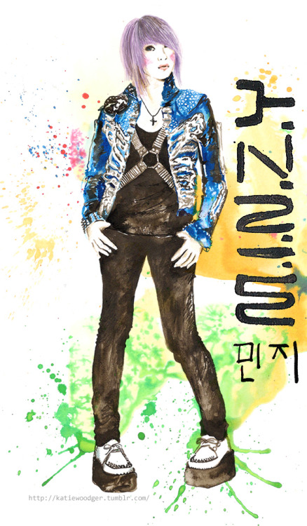 Happy Birthday Minzy of 2NE1!!! Art by @KatieWoodger