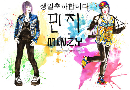 Happy Birthday Minzy of 2NE1! (separate pictures here and here)