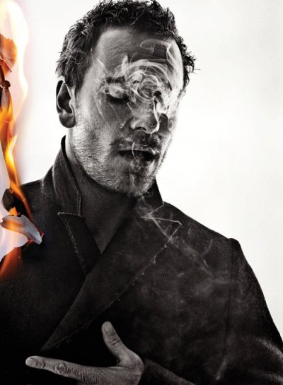 Man on fire = the man to watch.  smokingissexy:  Michael Fassbender