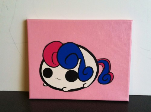 mittens2248:  Stencil painting of askmlcblobs Bonbon.   Yay!