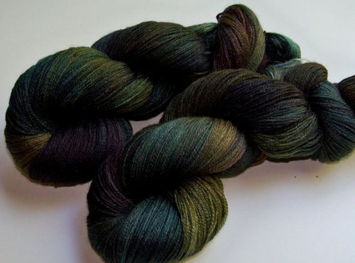 (via Hand Painted BFL and Silk Lace Weight Oil by SeeJayneKnitYarns)