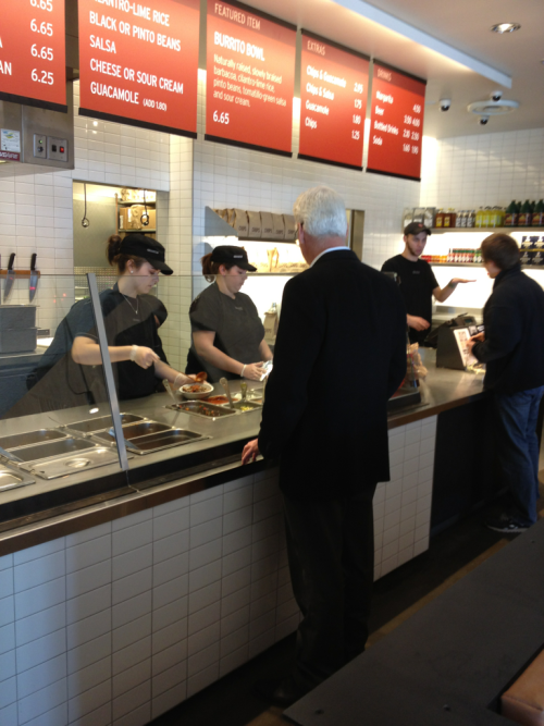 Ted Danson sighting at the local Chipotle. This is what it must feel like to live in Hollywood.