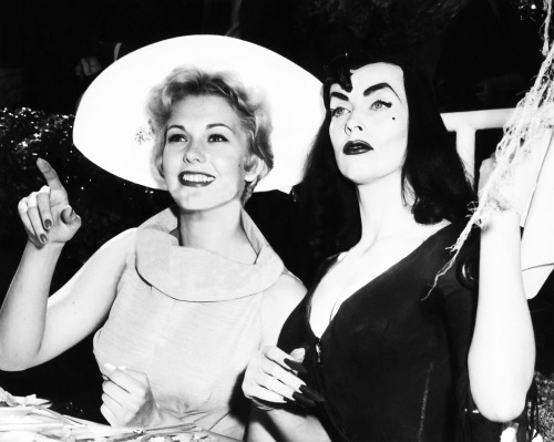 Kim Novak and Vampira c. 1950's