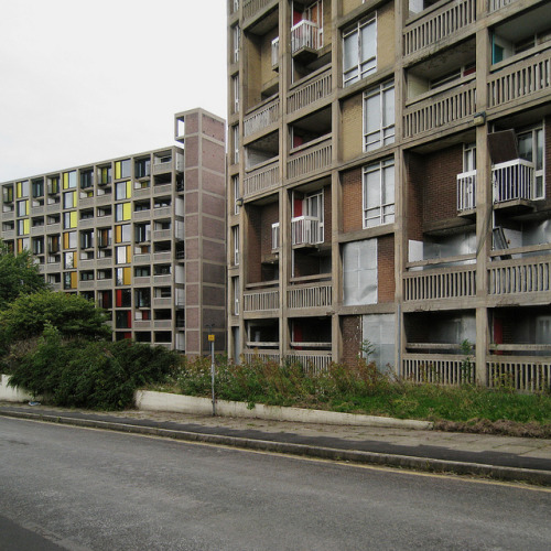 Park Hill by ben_patio on Flickr.Not actually suburban, but I'm enjoying these Park Hill photos by @benpatio