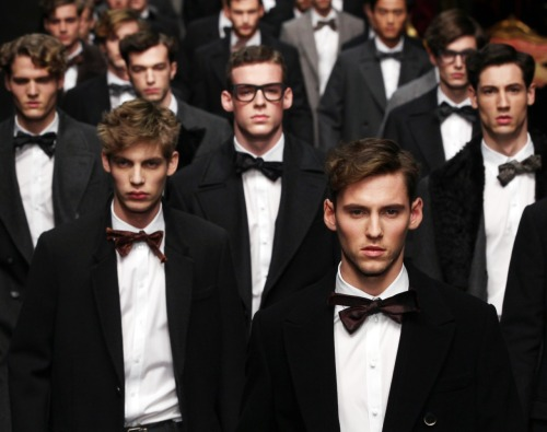 glamour:  Behold our Dos & Don'ts from the menswear shows. Photo: Dolce & Gabbana fall 2012, Fairchild Archive