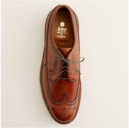 thetieguy:  beautiful brogue.  I have a lot of shoes. Just my thing. But I must say, I get the greatest enjoyment and comfort from my Alden's.