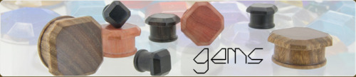 "Name: GemsDescription: These facet cut plugs are the product of a little bit of wood, a crazy idea, a ton of hard work, a bunch of prototyping, and lots of love. We hope you like the end result! Size: 0g - 1"" Price: $85 - $90 Use rep code 424 and get 20% off your order!"