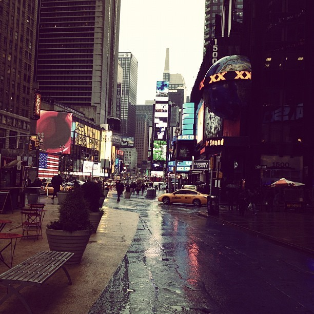 Rainy NYC!!!! LOVE IT! (Taken with instagram)