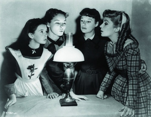 Margaret O'Brien, Janet Leigh, June Allyson and Elizabeth Taylor in Little Women (1949)