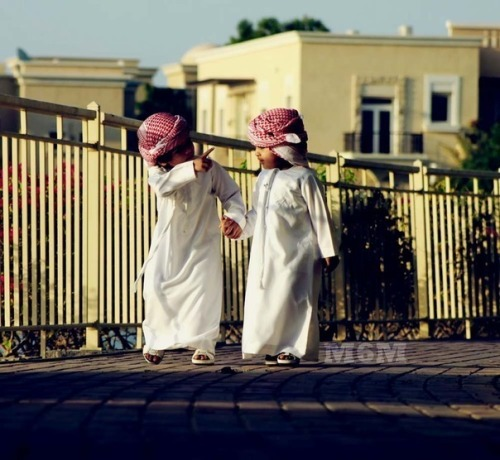2 arabic children