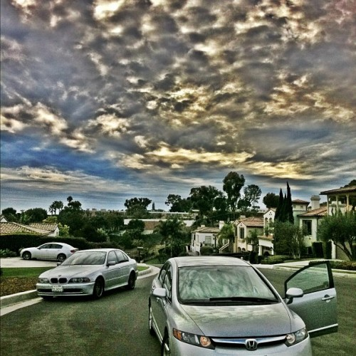 #civiclife #Honda #BMW #cloudporn #skygasm #effects #HDR #camera #California #west #coast (Taken with instagram)