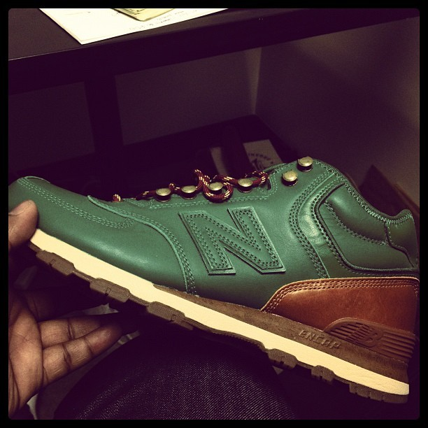 Green New Balance x Streething x Leftfoot H574J 'Present'. Newest pickup.