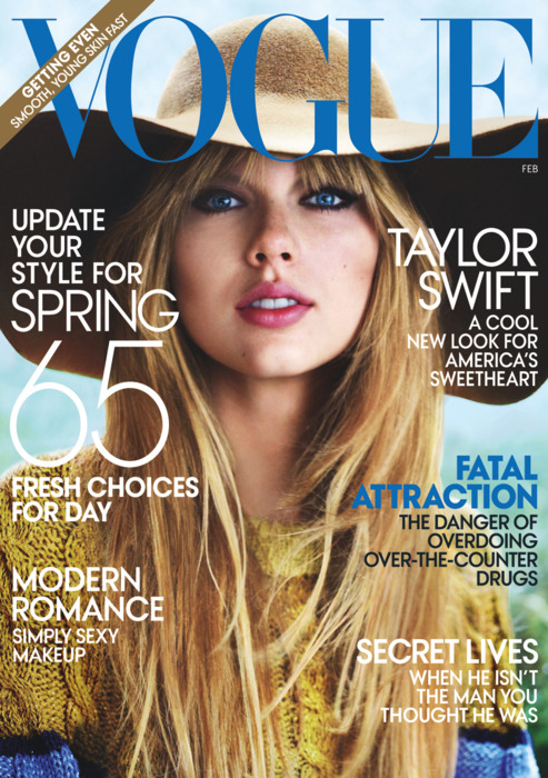 Taylor Swift on VOGUE Magazine February 2012 Issue.