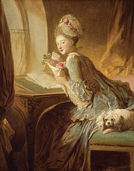 arthistoryeveryday:   The Love Letter by Fragonard (1770)