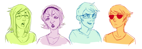 archaeoghost:  The homestuck kids making just-about-to-sneeze faces.