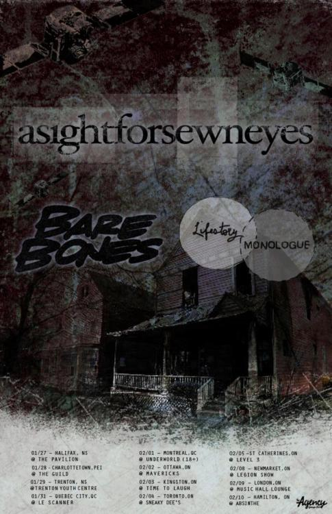 10 days until we hit the road with A Sight For Sewn Eyes and Bare Bones! Put your stocks in long-johns because we are about to buy a lot of them.