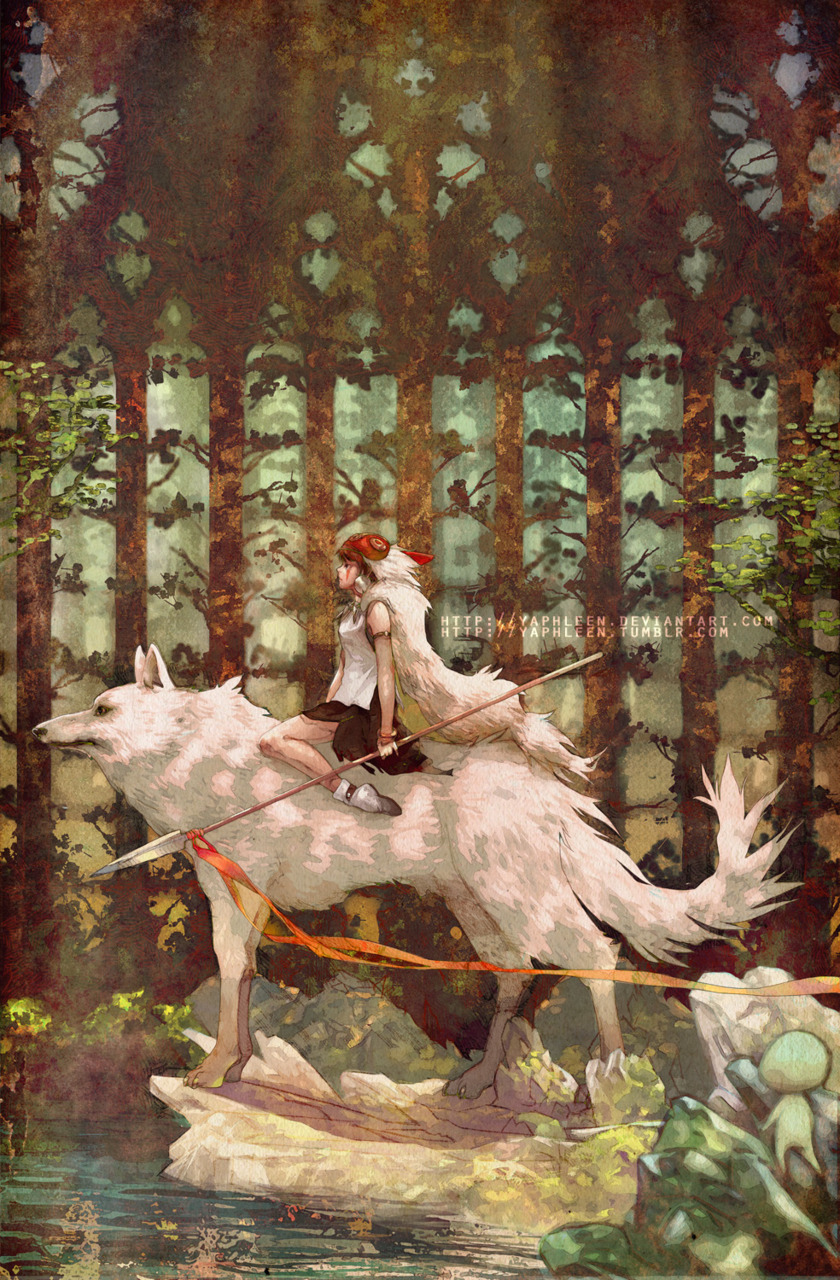 danceabletragedy:  Princess Mononoke by Yaphleen