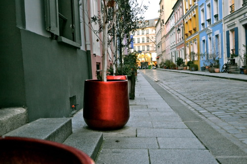 """Rue Crémieux: pavement, red?"" , Paris, January 2012"