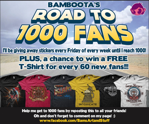 bamboota:  I'm holding a contest over on my Facebook page! Be sure to share!! Thank You and Good Luck! ^_^